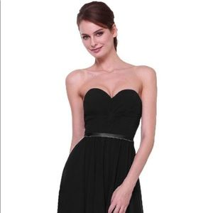 Cinderella Twist bodice chiffon dress | Black | S